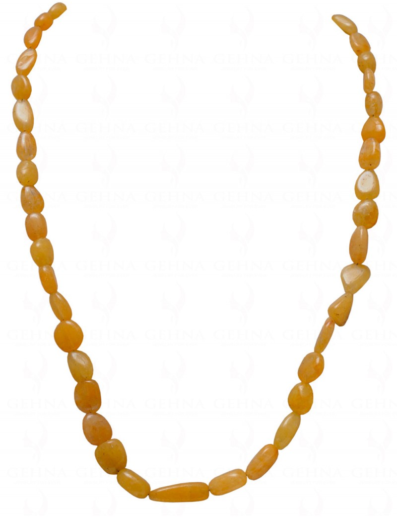 YELLOW SAPPHIRE NATURAL & RARE GEMSTONE TUMBLES NECKLACE NP1067