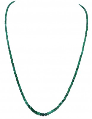 SINGLE STRAND OF EMERALD GEMSTONE ROUND CABOCHON BEAD NP1085