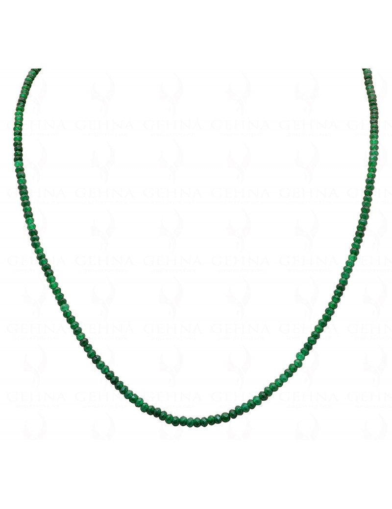 ZAMBIAN EMERALD GEMSTONE FACETED BEAD NECKLACE NP1089
