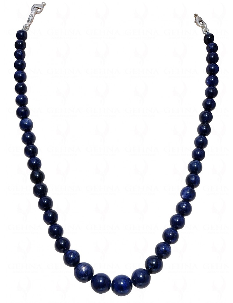 """14"""" INCHES BLUE SAPPHIRE GEMSTONE BEAD NECKLACE NP1347"""