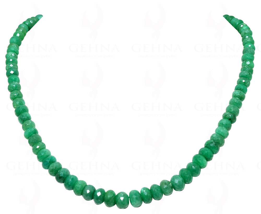 Self-Conscious Emerald Gemstone Round Faceted Bead Necklace Np1219 Fine Jewelry