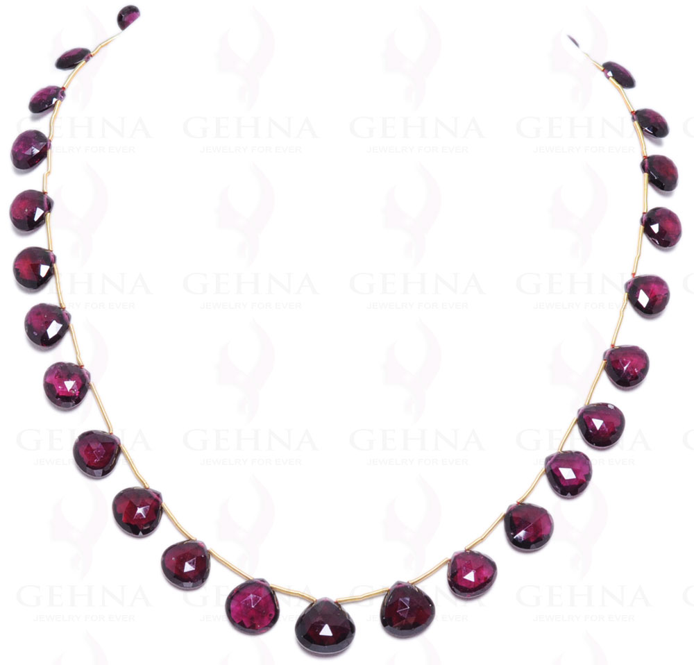 Black Spinel Gemstone Faceted Bead String With Oval Shaped Garnet Ns1356 Reasonable Price Jewelry & Watches Fine Jewelry